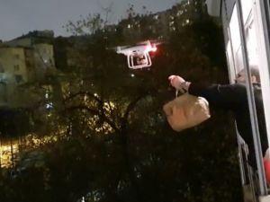 Drone ile çorba servisi