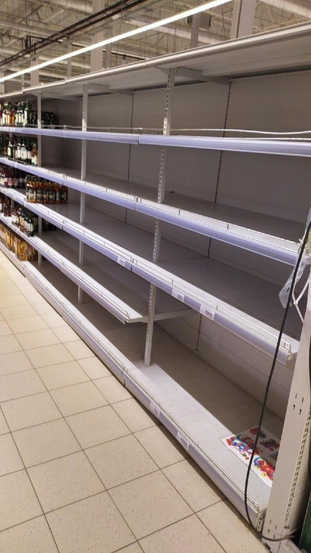 Marketlerde gıda ürünü bırakmadılar galerisi resim 5