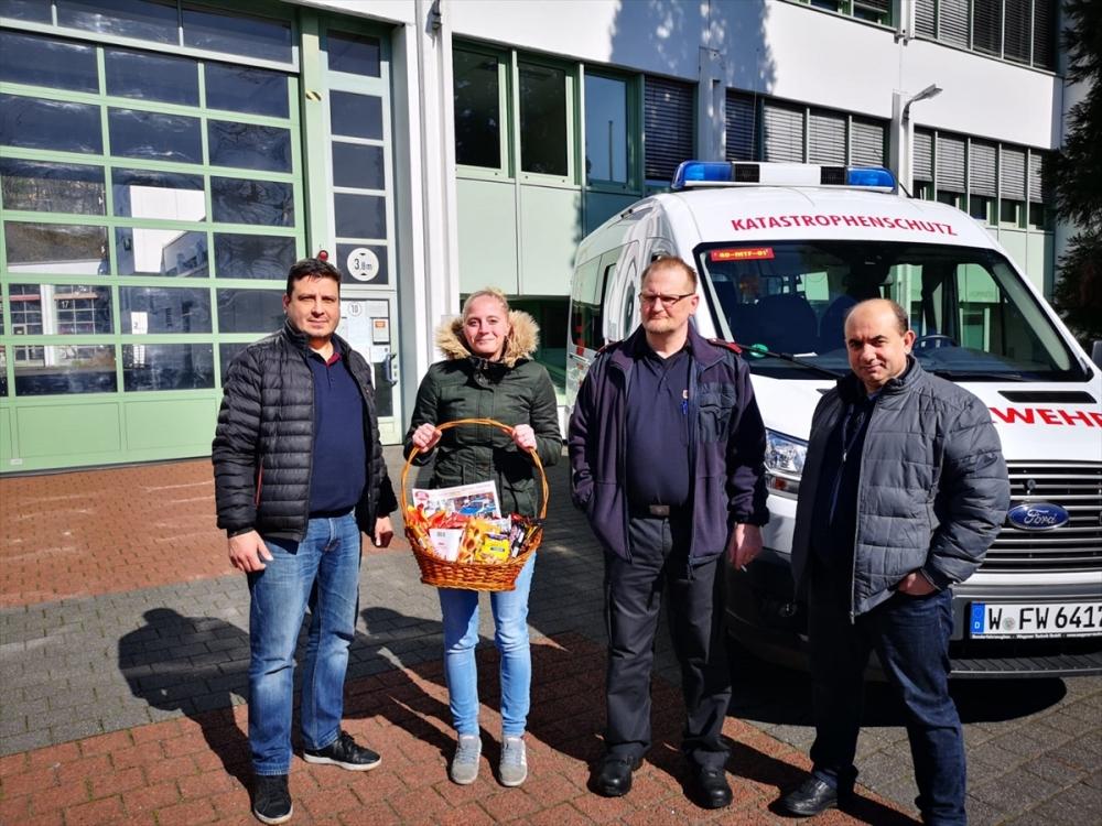 Almanya'daki Türklerden sağlıkçılara destek ziyareti galerisi resim 5