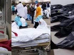 Hastalar sokaklara, ölüler koridorlara taştı