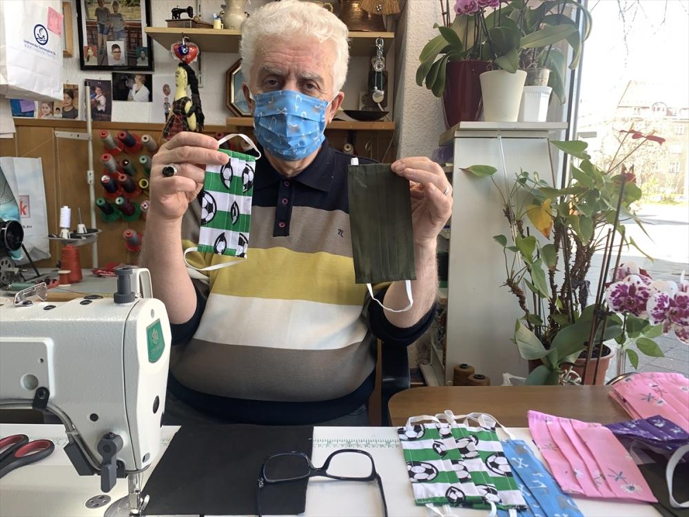 Gurbetçi terziler maske üretimine başladı galerisi resim 1