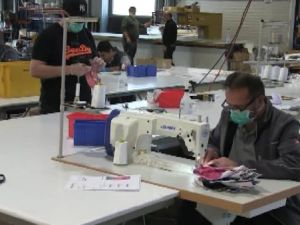 Almanya'nın maske talebini gurbetçiler karşılıyor