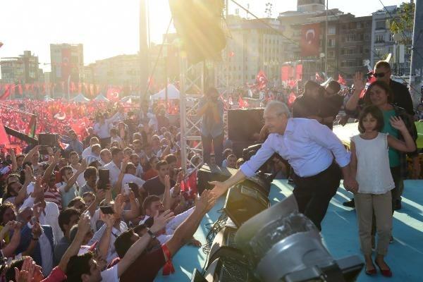 CHP'nin Taksim mitingine ilgi büyük oldu galerisi resim 13