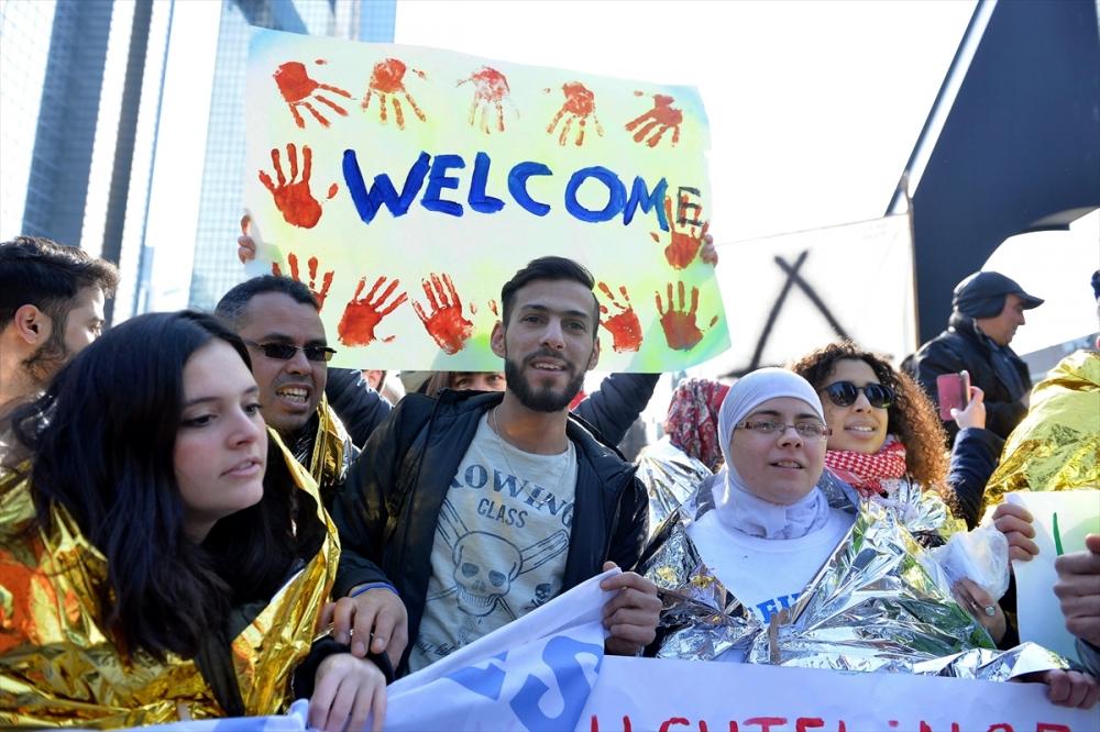 Brüksel'de sığınmacılara destek yürüyüşü galerisi resim 1
