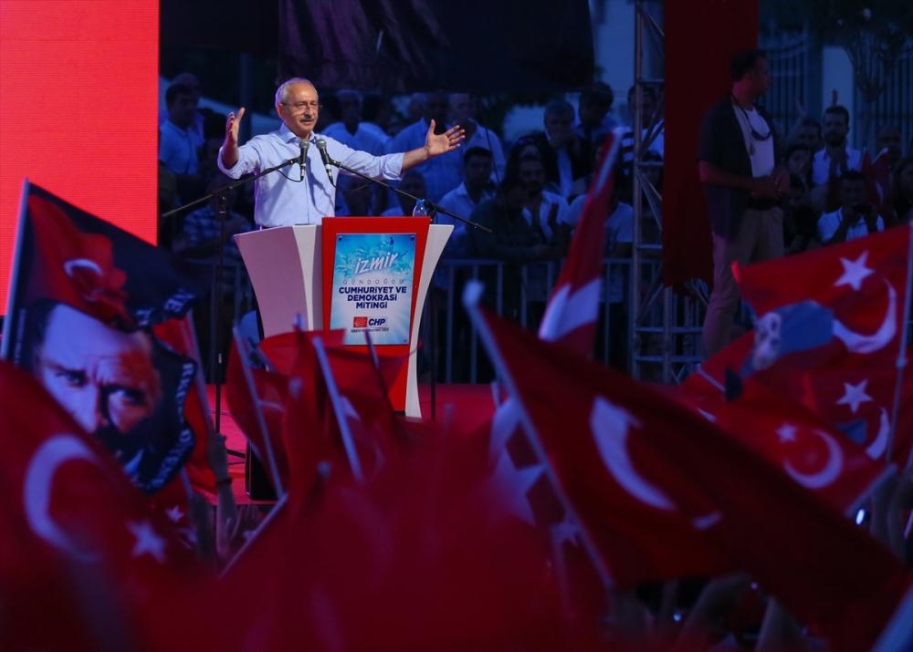 İzmir'de 'Cumhuriyet ve Demokrasi' coşkusu galerisi resim 16