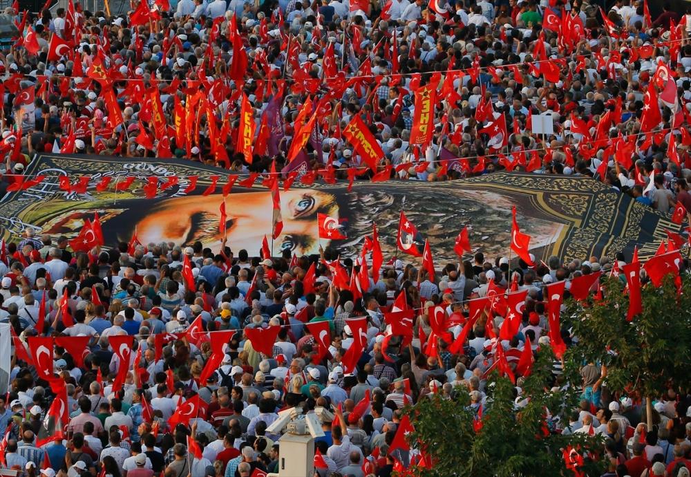 İzmir'de 'Cumhuriyet ve Demokrasi' coşkusu galerisi resim 27