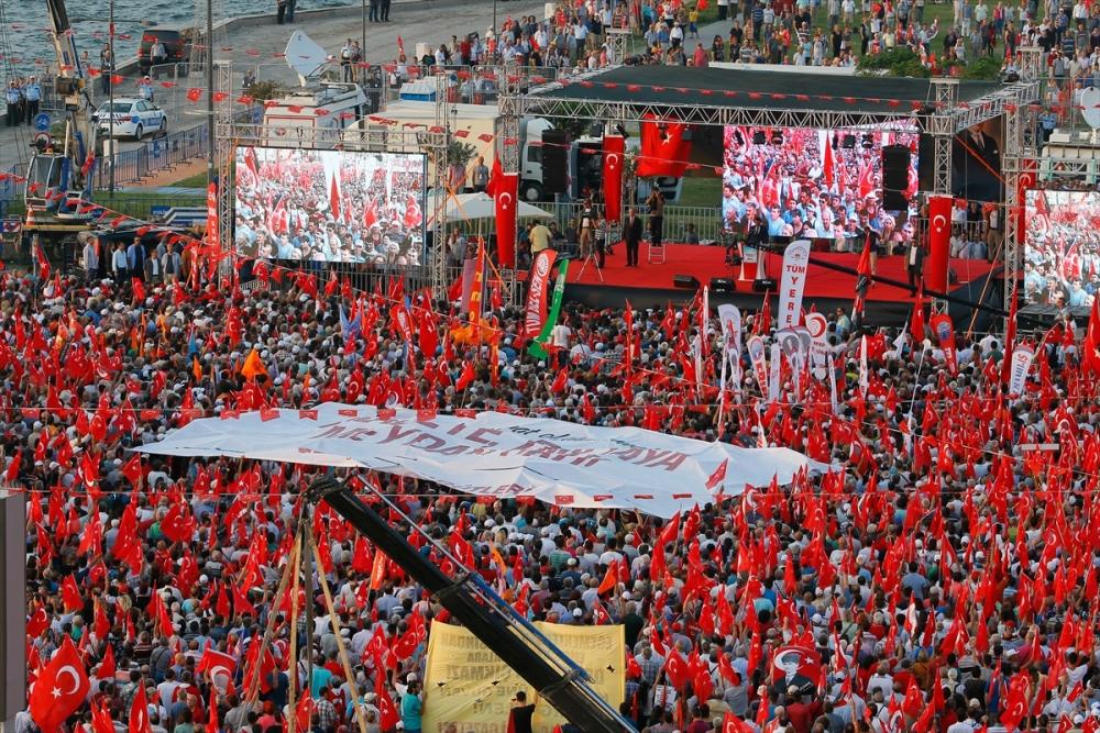 İzmir'de 'Cumhuriyet ve Demokrasi' coşkusu galerisi resim 28