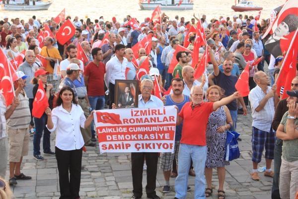 İzmir'de 'Cumhuriyet ve Demokrasi' coşkusu galerisi resim 34