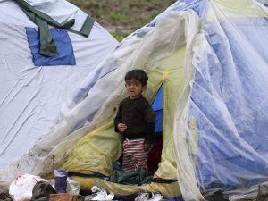 Sığınmacı kampına bahar gelmiyor