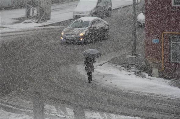 Türkiye güne karla uyandı galerisi resim 10