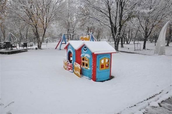 Türkiye güne karla uyandı galerisi resim 13