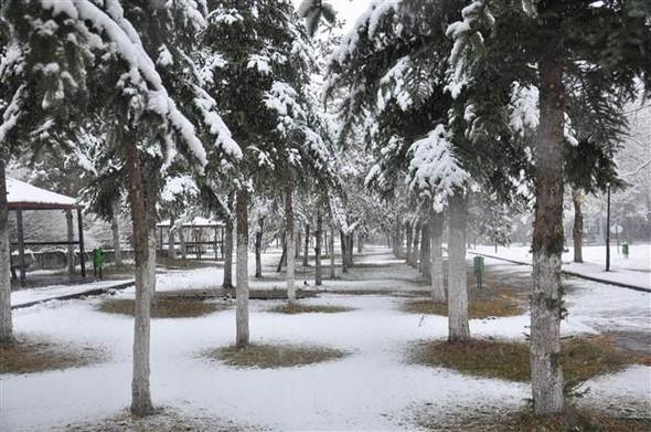 Türkiye güne karla uyandı galerisi resim 15