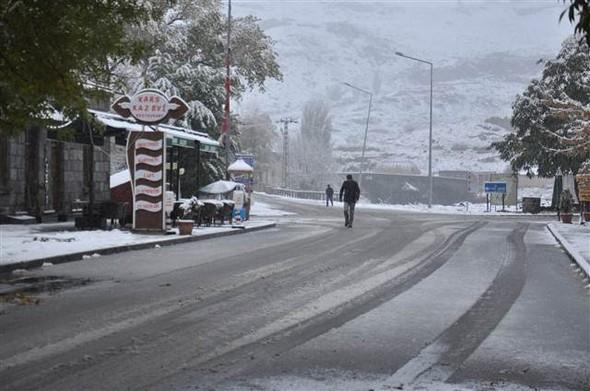 Türkiye güne karla uyandı galerisi resim 4