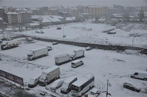 Türkiye güne karla uyandı galerisi resim 5