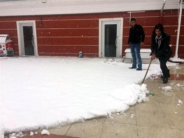 Türkiye güne karla uyandı galerisi resim 9