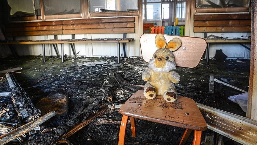 Van'da anaokuluna terör saldırısı galerisi resim 1