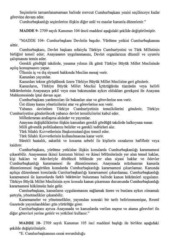 İşte 21 maddelik Yeni Anayasa teklifi galerisi resim 22