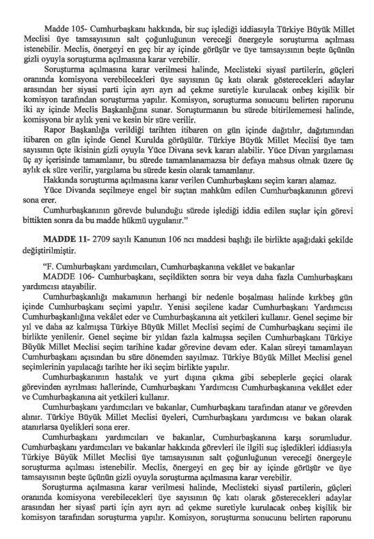 İşte 21 maddelik Yeni Anayasa teklifi galerisi resim 23