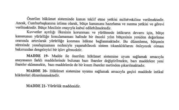 İşte 21 maddelik Yeni Anayasa teklifi galerisi resim 24