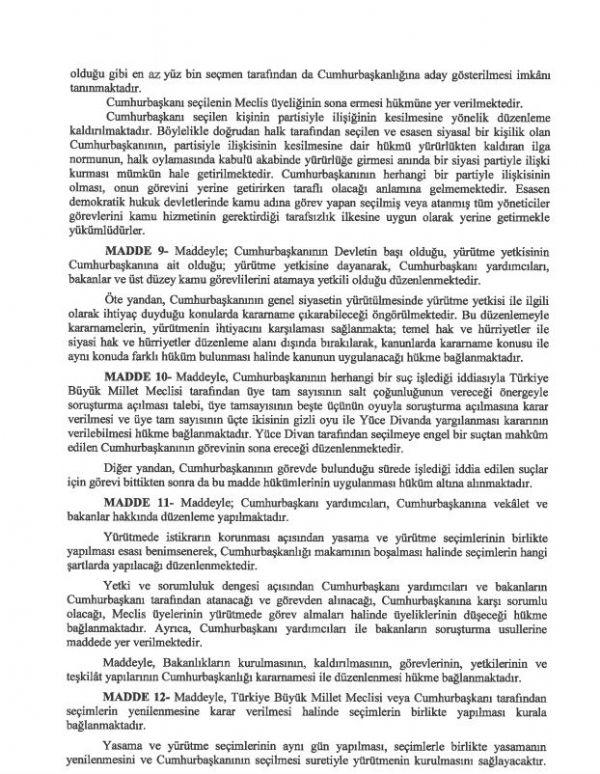 İşte 21 maddelik Yeni Anayasa teklifi galerisi resim 28