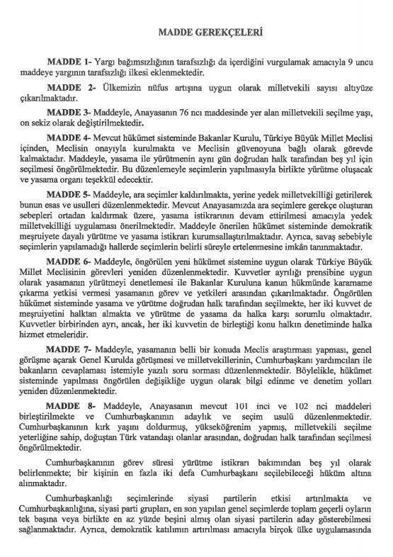 İşte 21 maddelik Yeni Anayasa teklifi galerisi resim 29