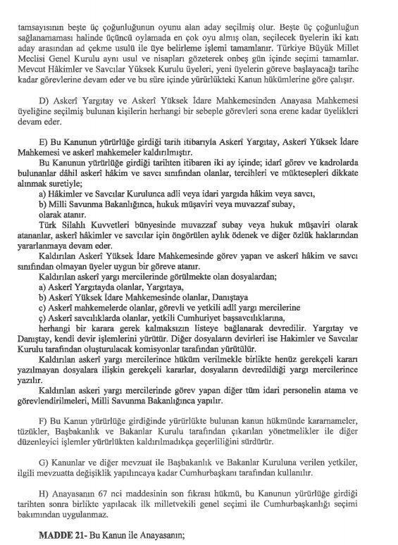 İşte 21 maddelik Yeni Anayasa teklifi galerisi resim 31
