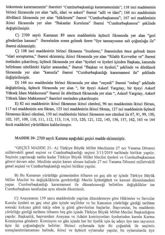 İşte 21 maddelik Yeni Anayasa teklifi galerisi resim 32