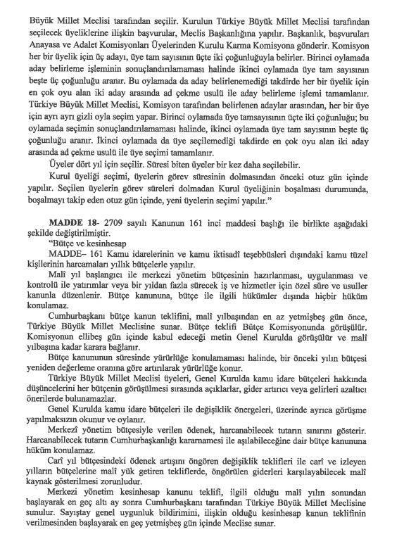 İşte 21 maddelik Yeni Anayasa teklifi galerisi resim 34