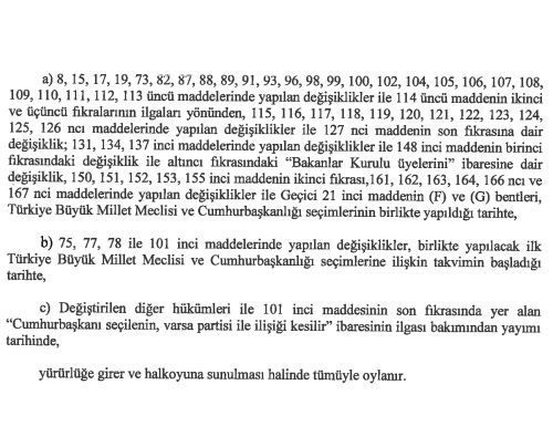 İşte 21 maddelik Yeni Anayasa teklifi galerisi resim 35