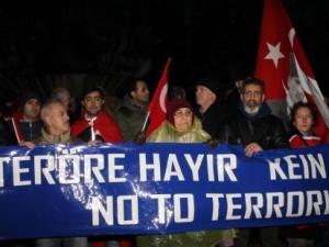 İstanbul'daki terör saldırısı Almanya'da protesto edildi
