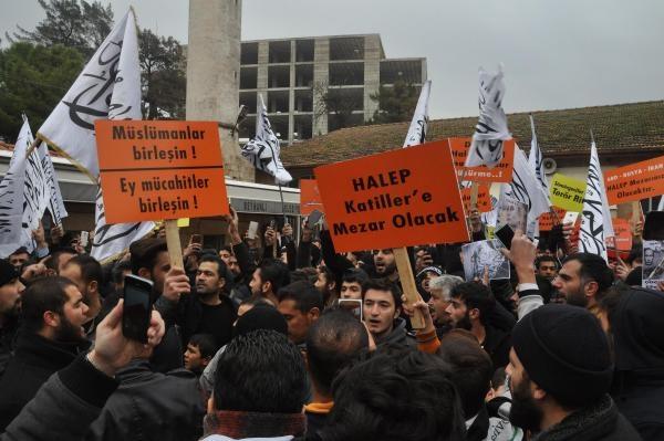 Reyhanlı'da Suriyelilere destek eylemi galerisi resim 1