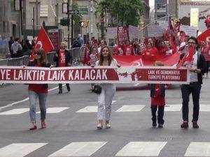 Türk Yürüyüşü'nde 'laiklik' vurgusu