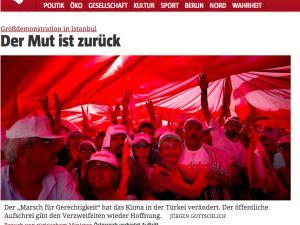 Alman basınında 'Adalet Mitingi'