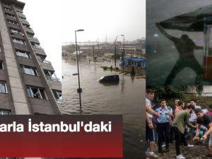 İstanbul'da yağmur hayatı felç etti