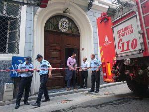 Yunanistan Başkonsolosluğu'nda yangın