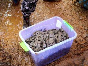 Bin yıllık 5.6 ton madeni para bulundu