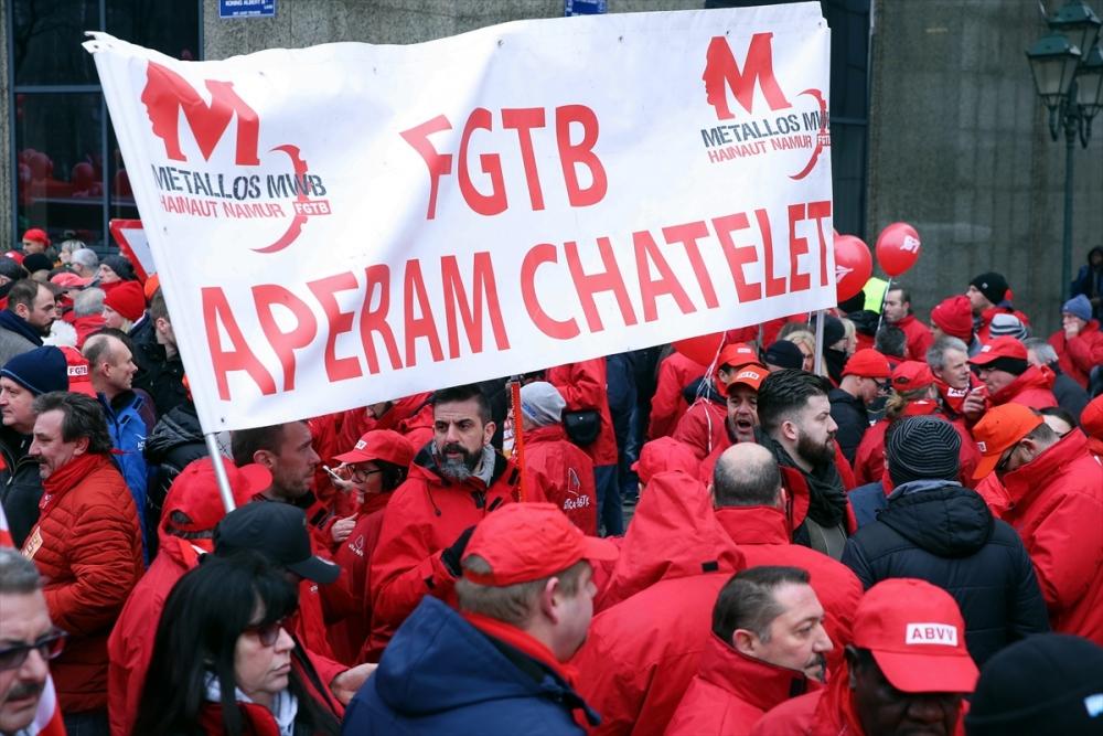 Brüksel'de çalışanlar sokağa döküldü galerisi resim 2