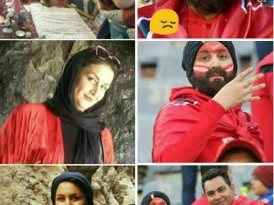 İranlı kadın maç yasağını böyle deldi