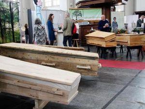 Cenaze fuarına yoğun ilgi