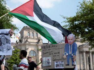 Almanya'da Netanyahu protestosu