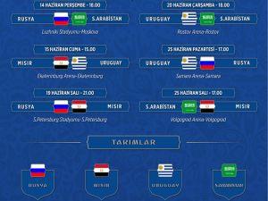 2018 FIFA Dünya Kupası grupları