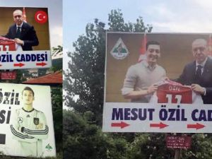 Mesut Özil tabelası değiştirildi