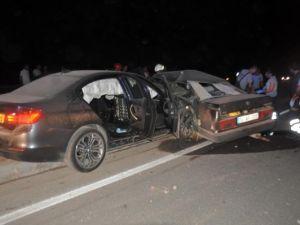 Gurbetçi aile kaza yaptı: 2 ölü, 4 yaralı