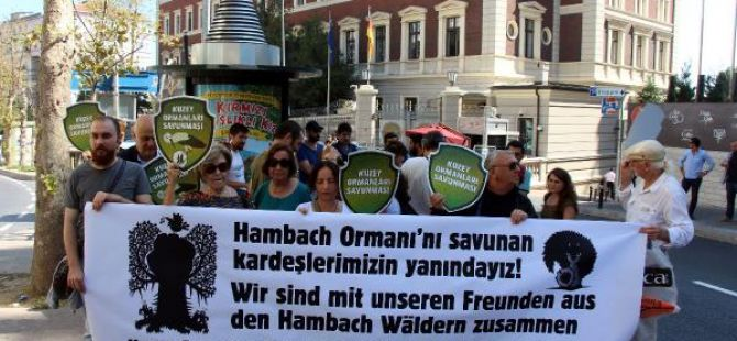 Çevreciler Almanya'yı protesto ettiler