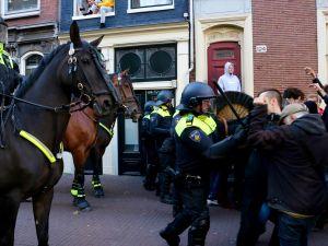 Hollanda'da öğrenciler üniversiteyi işgal etti
