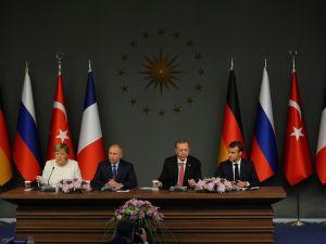 İstanbul'da Suriye konulu dörtlü zirve