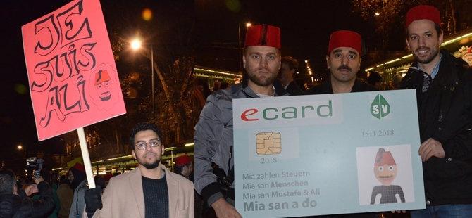 Avusturya'da fesli ırkçılık protestosu galerisi resim 1