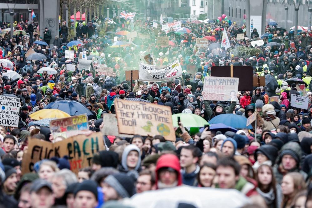 Belçika'da 70 bin kişi iklim için yürüdü galerisi resim 1