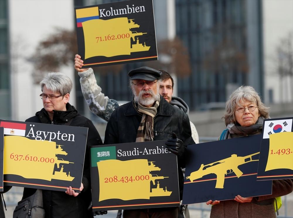 Almanya'nın silah ihracat politikası protesto edildi galerisi resim 1