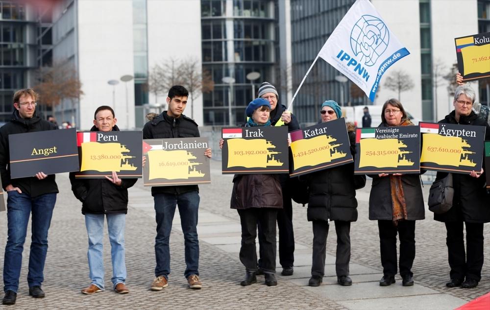 Almanya'nın silah ihracat politikası protesto edildi galerisi resim 18